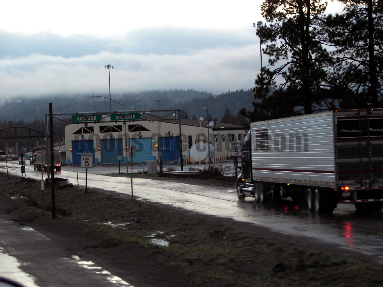 Donner Pass Truckee California Weigh Station Truck Scale Picture